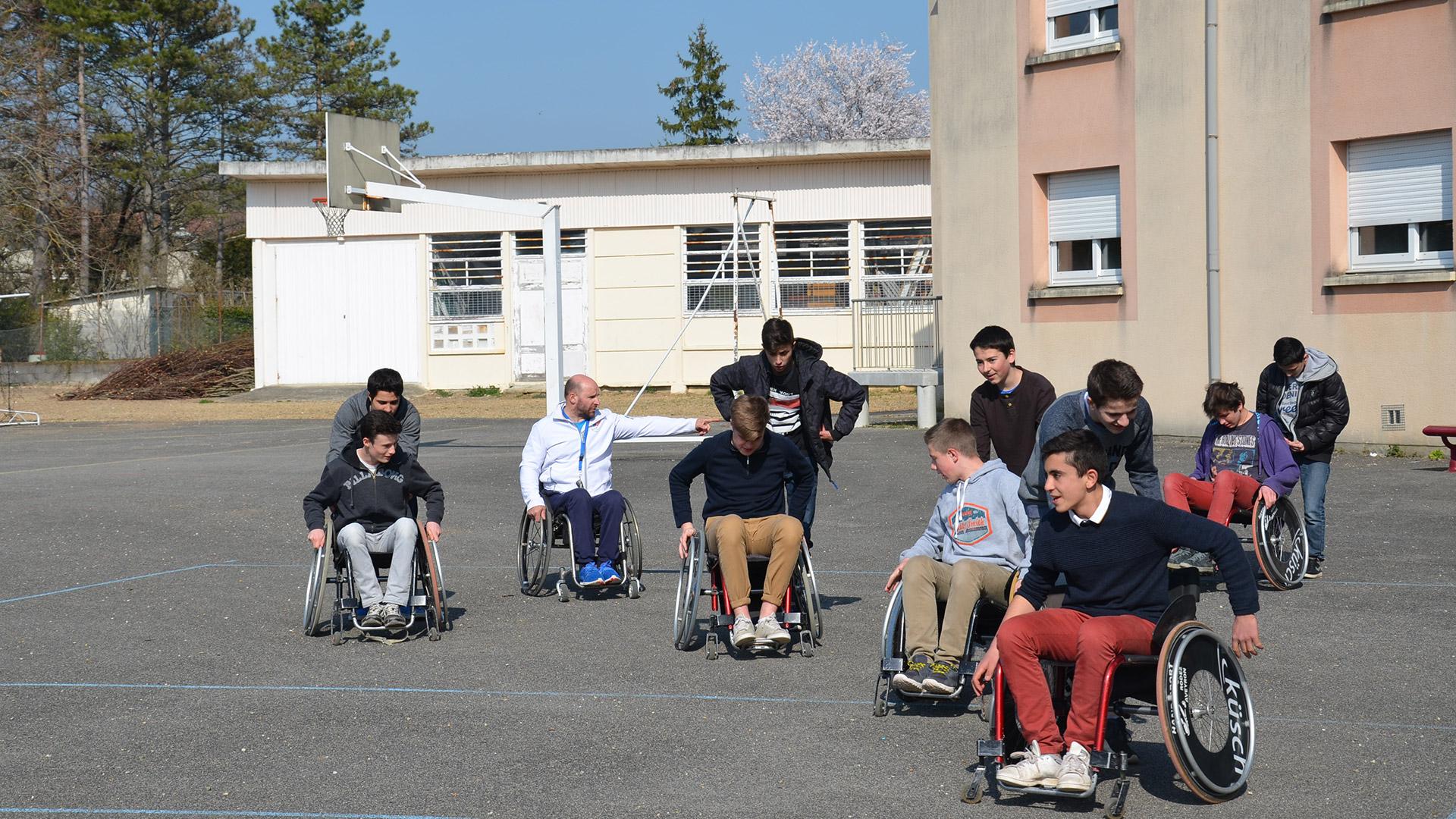 handisport2016_Sensibilisation_Lycée_2