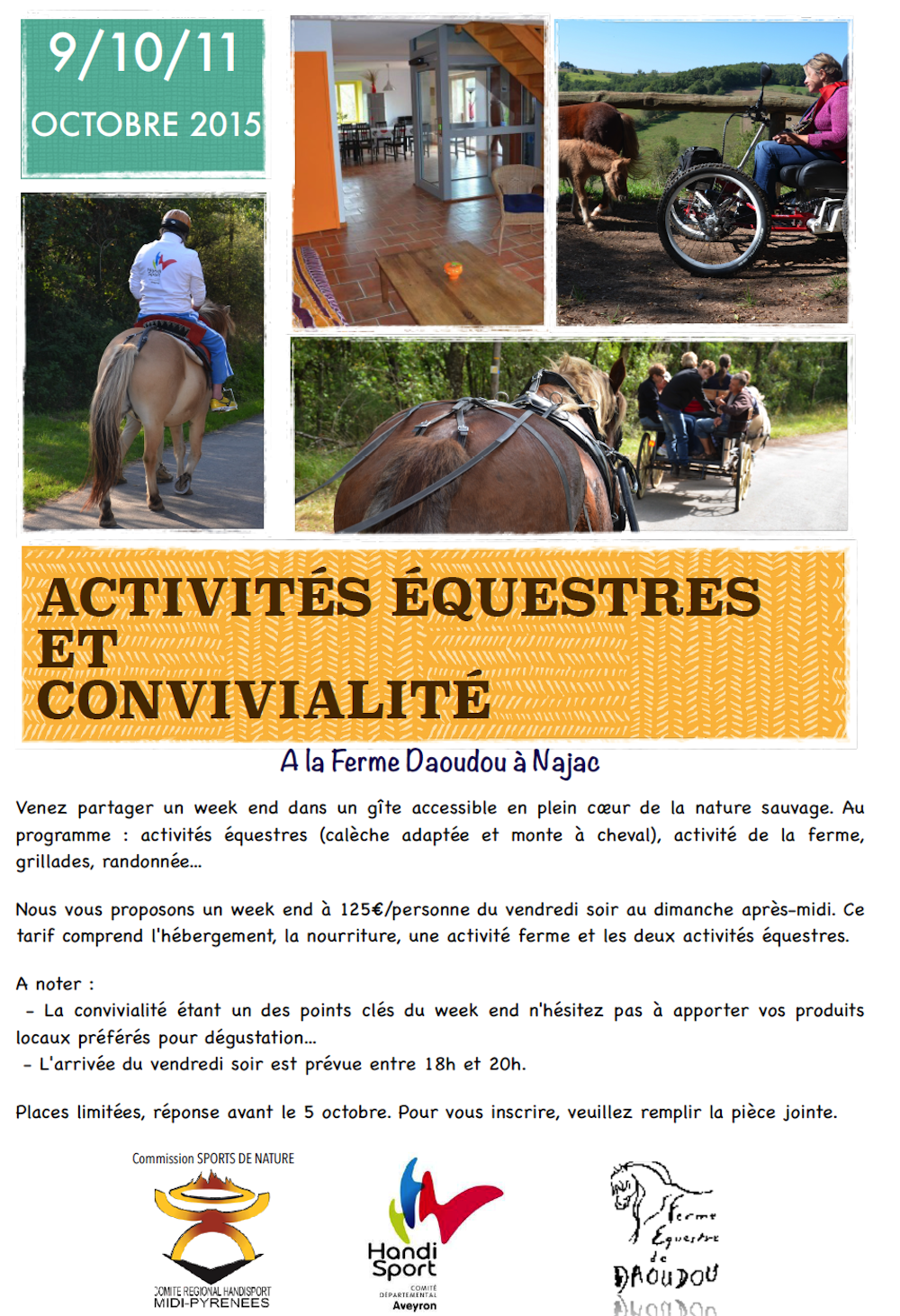 Weekend Equestre à Najac
