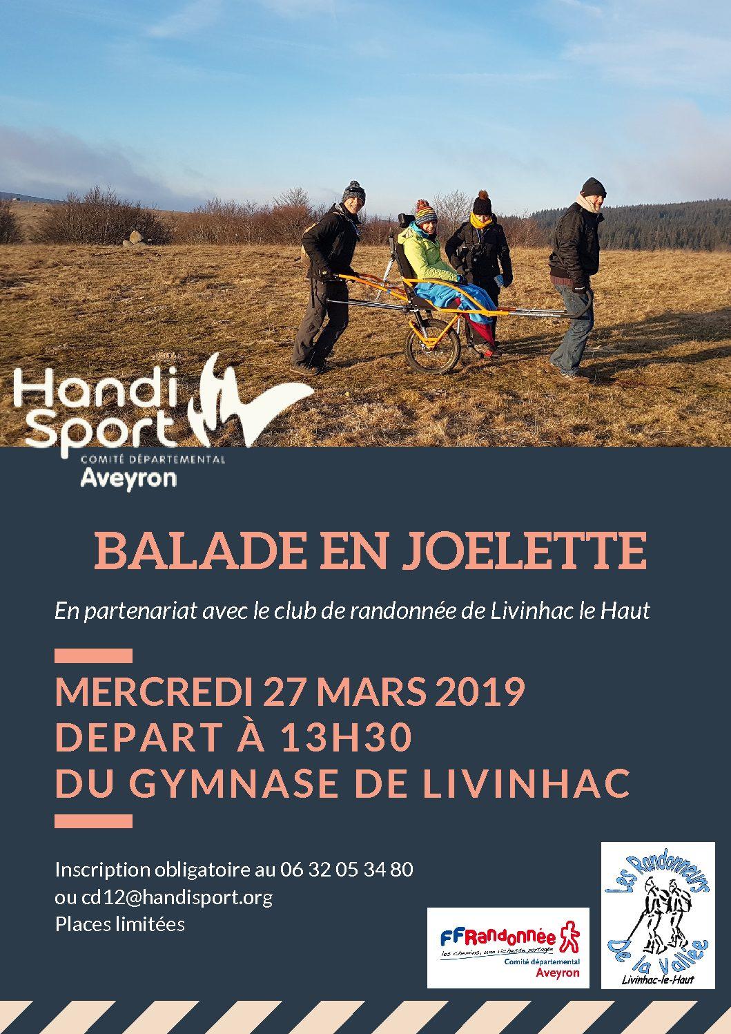Rando Joelette avec le Club de randonnée de Livinhac Le Haut